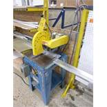 "CTD 10"" chop saw, mod. M225, ser. no. 1368, , 1.5 hp c/w attachment & work table w/ length stop"