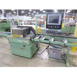 Urban Machinery computer controlled double-mitre vinyl extrusion saw, mod. SCS-4545, ser. no.