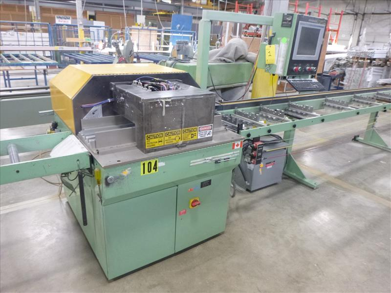 Lot 1 - Urban Machinery computer controlled double-mitre vinyl extrusion saw, mod. SCS-4545, ser. no.