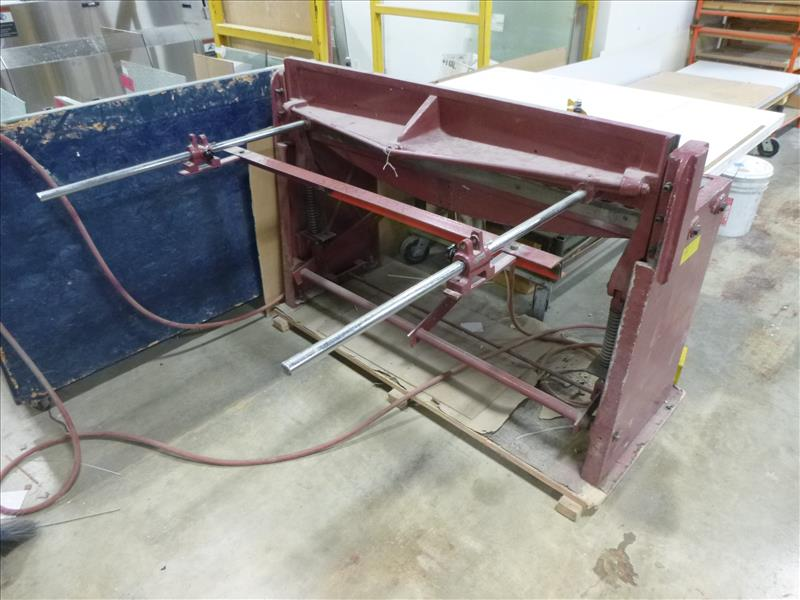"Lot 48 - Northern Industrial 50"" foot-operated shear, air actuated [Winner will be determined based on sum of"