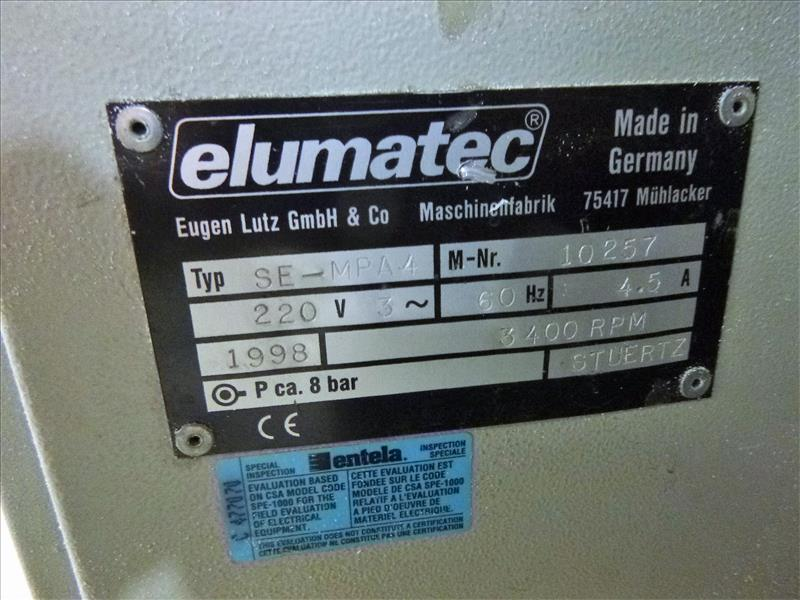 Lot 7 - Sturtz/ Elumatec mod. SE-MPA-4, ser. no. 10257, corner cleaner, mod. SE-MPA-4, ser. no. 10257 (ca.