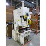 Aida gap-frame punch press, ref. # 72594, , approx. 50/55 ton cap., c/w die & palm button