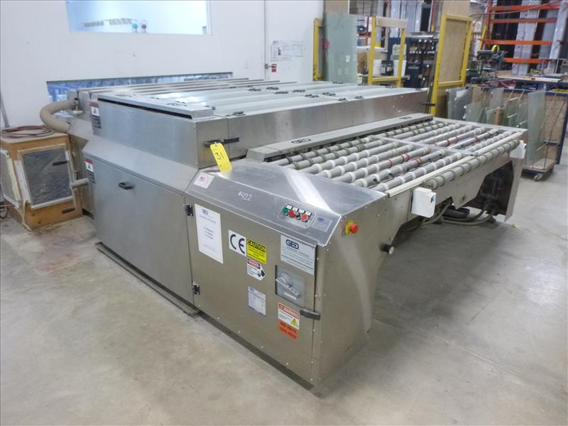 Lot 31 - GED Integrated Solutions stainless steel horizontal glass washing system, mod. MWASH5084110000, ser.