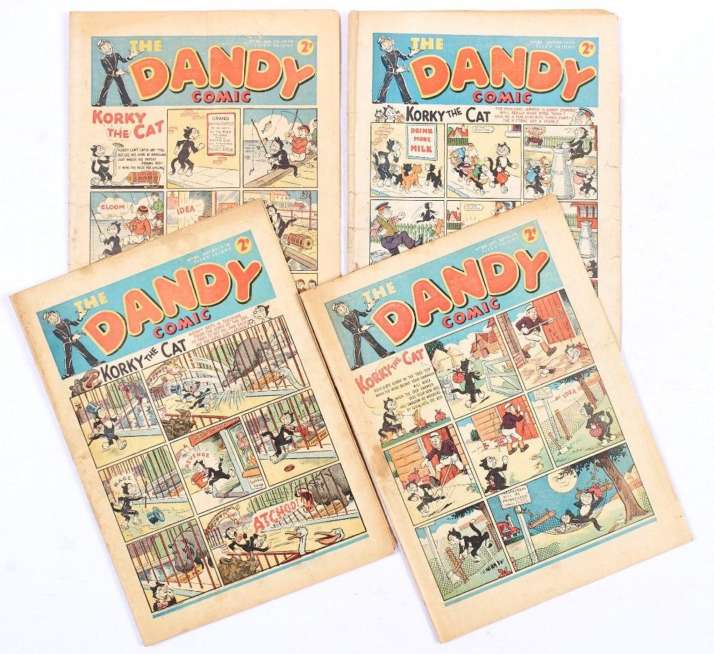 Lot 44 - Dandy (1939) 88, 92, 94, 96. Nos 88 [gd+], 92 [gd], 94, 96 [vg-] (4). No Reserve