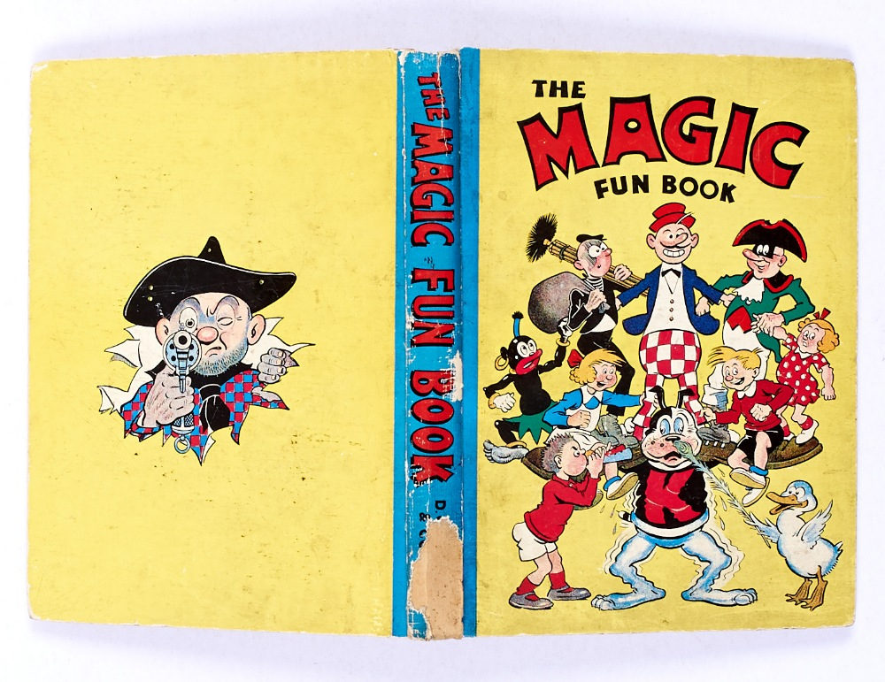 Lot 56 - Magic Fun Book 2 (1942). Koko supports his Magic characters. Bright boards and spine with 2 ins