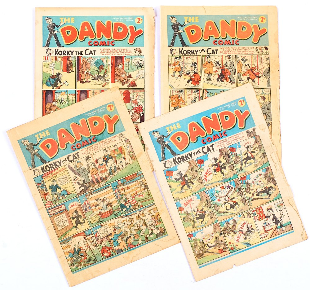 Lot 45 - Dandy (1940) 110, 112, 143, 156. Propaganda war issues [gd-/gd] (4). No Reserve