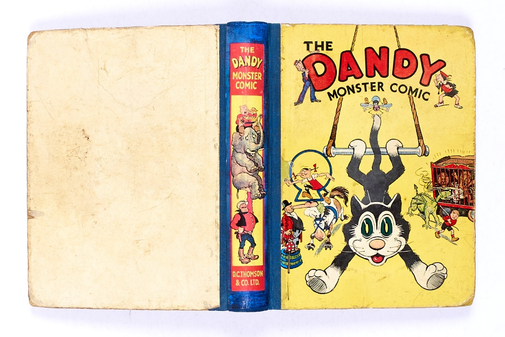 Lot 46 - Dandy Monster Comic 2 (1941). Korky on a trapeze. Good boards with rounded corners, reinforced spine