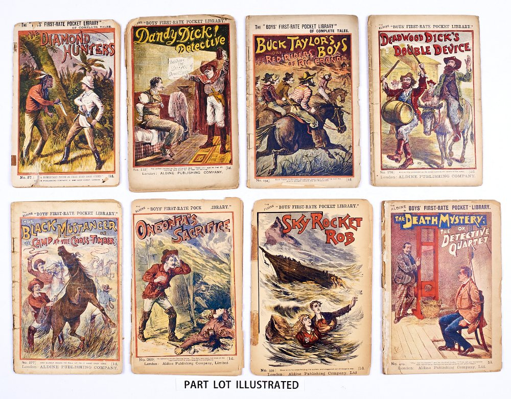 Lot 4 - Boys' First-Rate Pocket Library (1890-1900) 27 (no b/cover), 133, 154, 176, 177, 259, 269, 339, 409,