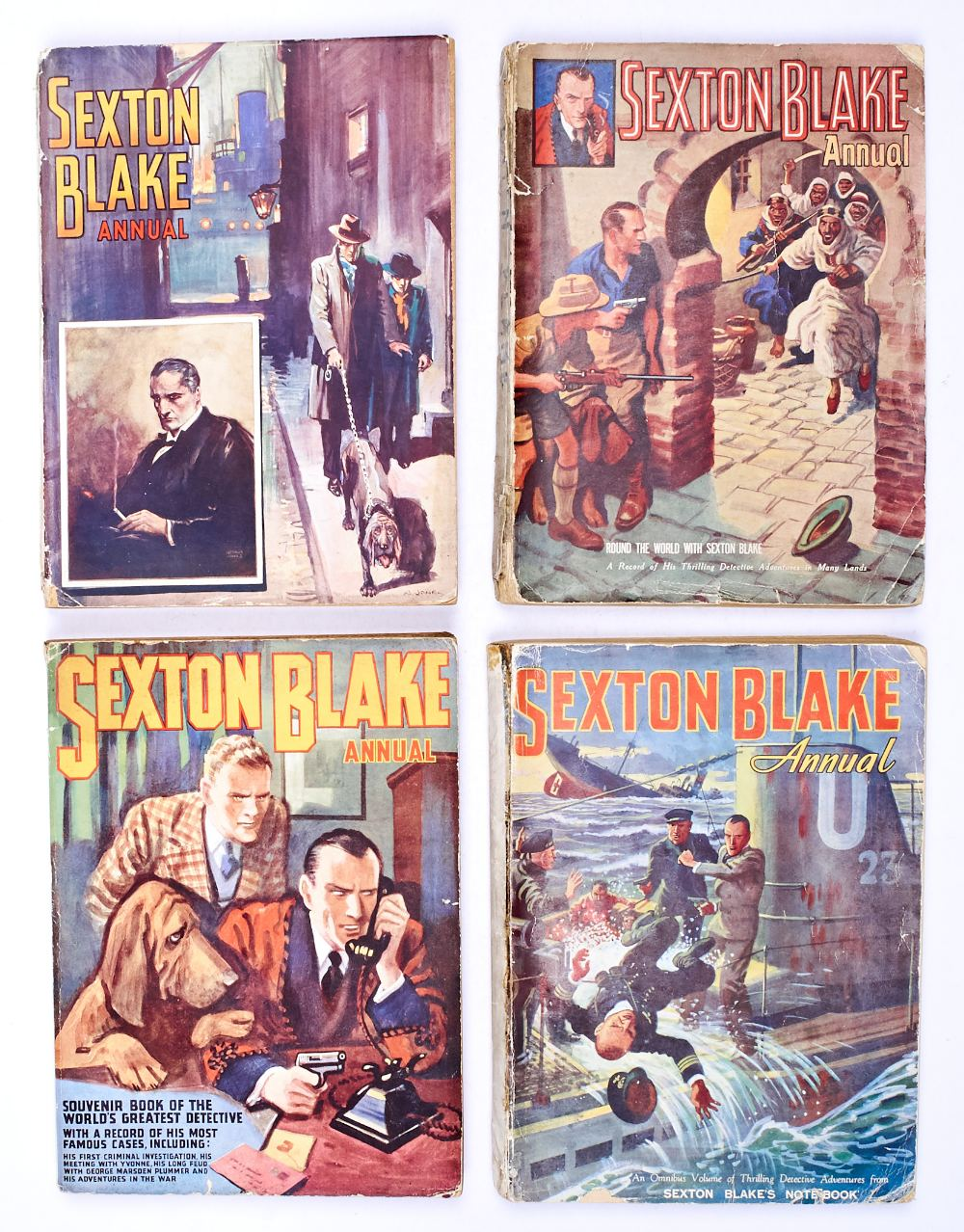 Lot 20 - Sexton Blake Annual (1938, 1940-42) 1-4. Only these four annuals were published, there was no annual