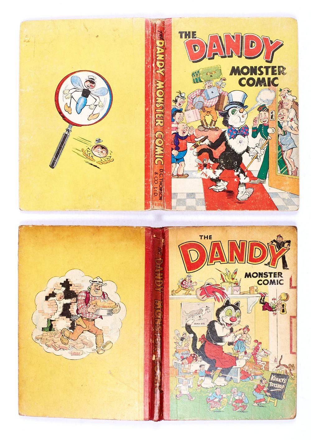 Lot 54 - Dandy Monster Comics (1949, 1952) [gd] Korky The Toff, Korky's Toy Shop (2). No Reserve