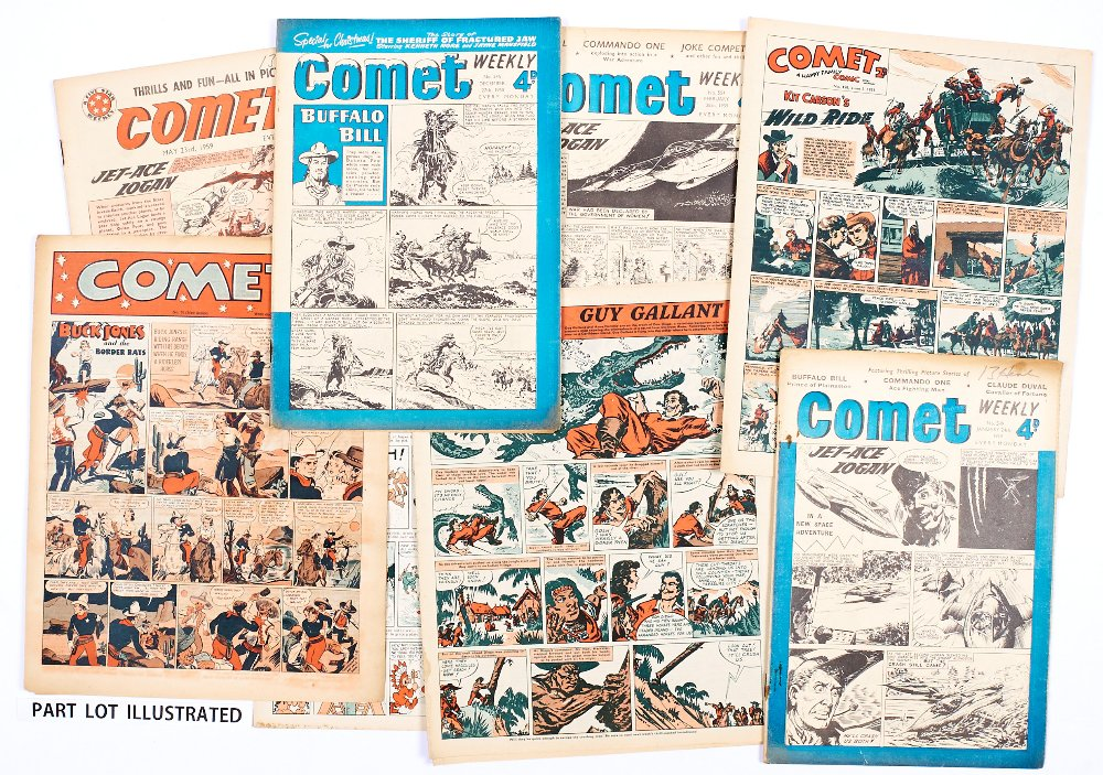 Lot 58 - Comet (1949-51) 32 issues between 76-171. With Comet (1958-59) 519-548 complete and 17 assorted