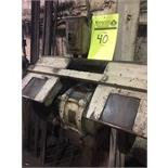 Johnson dual grinder/buffer, no pedestal. Must be unbolted from the wall. Serial 111979, Square D..