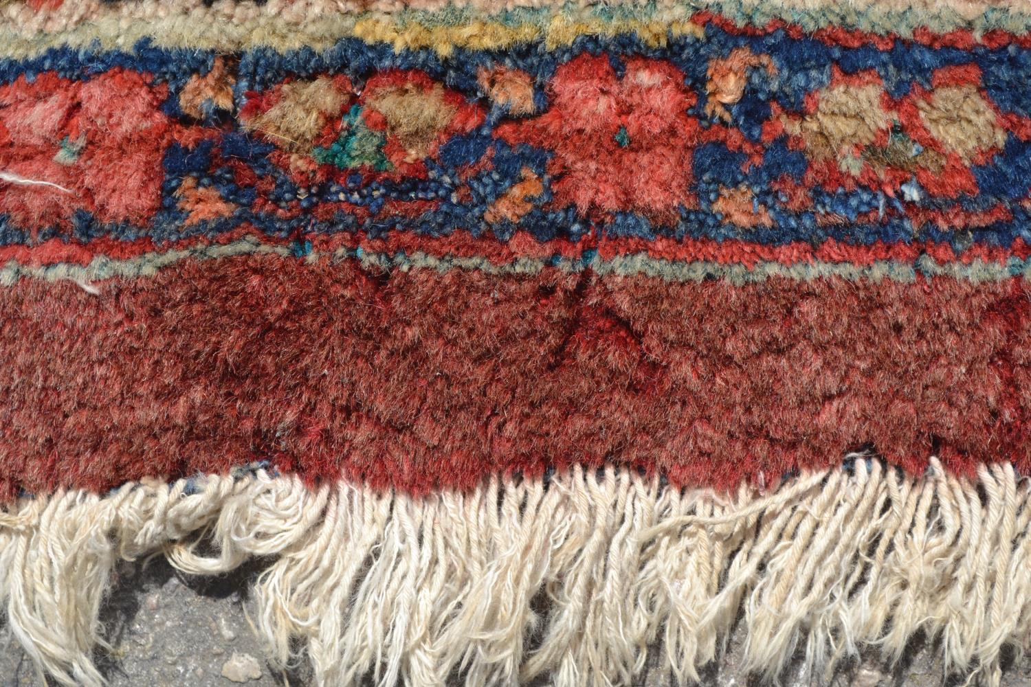 Lot 2 - Large Mahal carpet with an all-over stylised floral design on a rose ground with borders (some