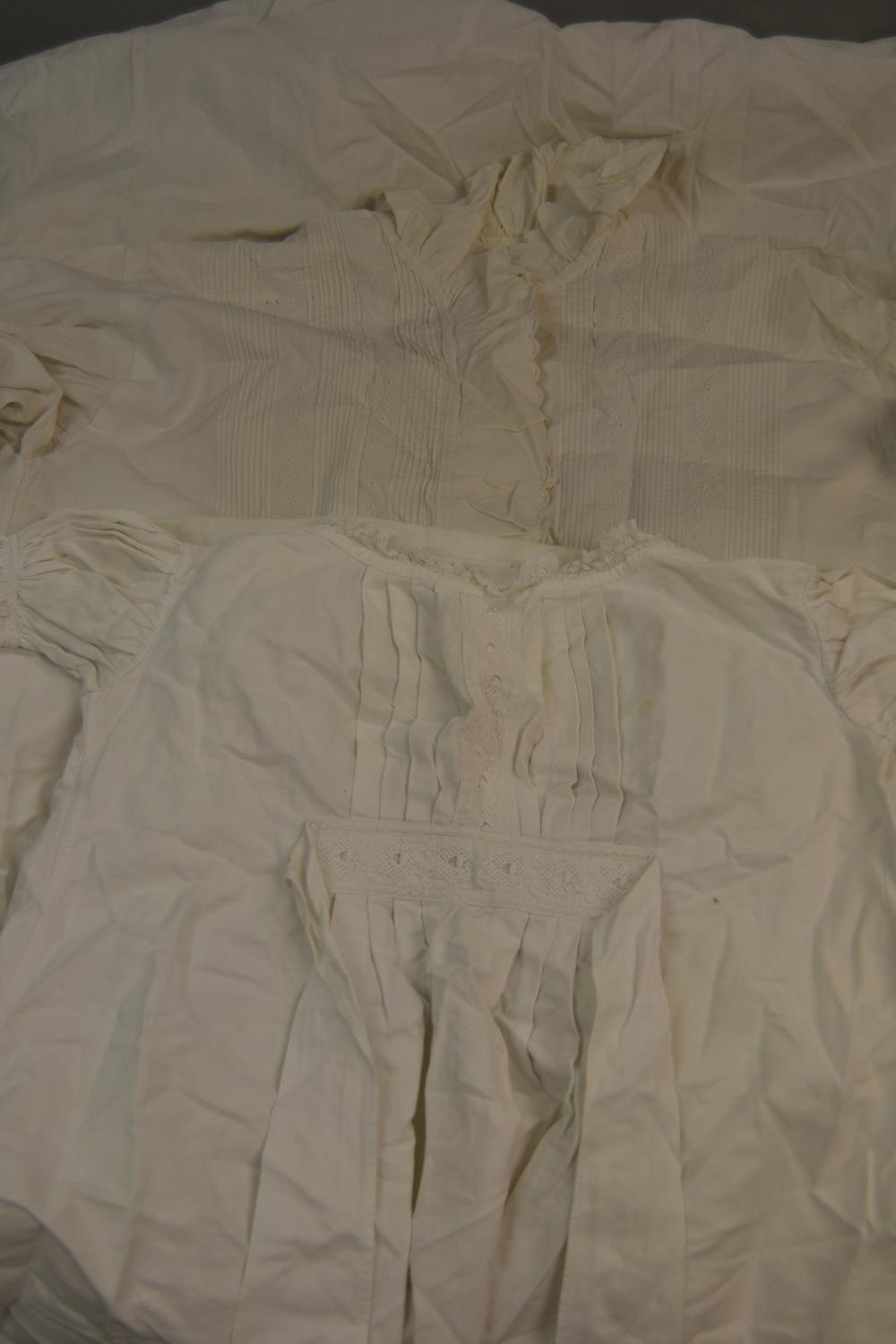 Lot 34 - Child's Christening gown together with a ladies linen nightgown