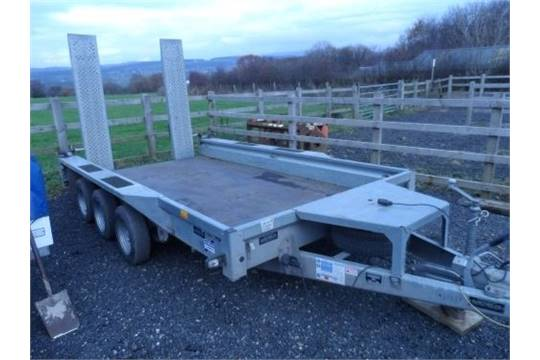 Ifor Williams 3.5 tonne tri axle plant trailer/type GX126-3/excellent ...