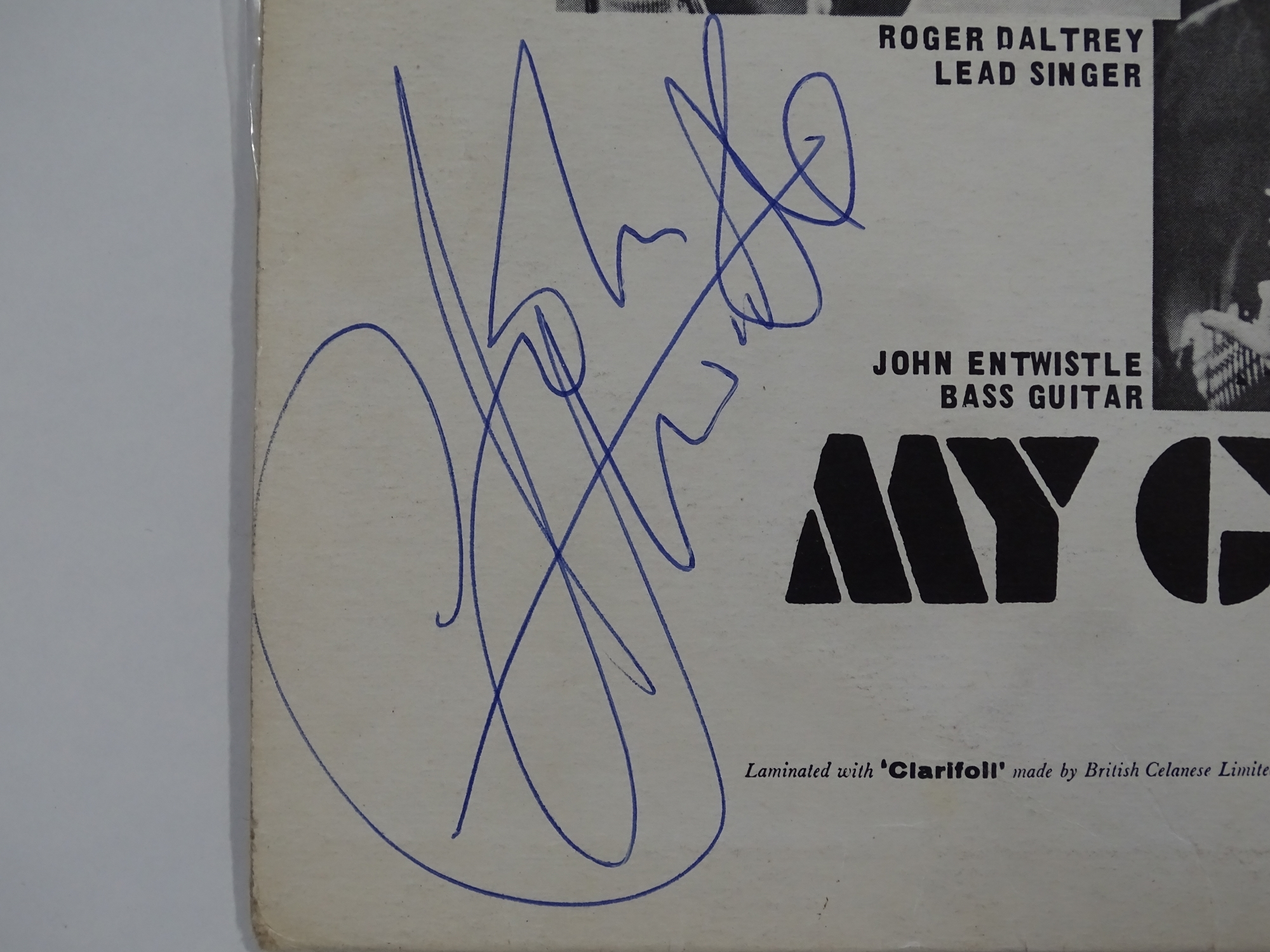 THE WHO - MY GENERATION - First pressing album signed by the four band members to the rear. An - Image 5 of 13