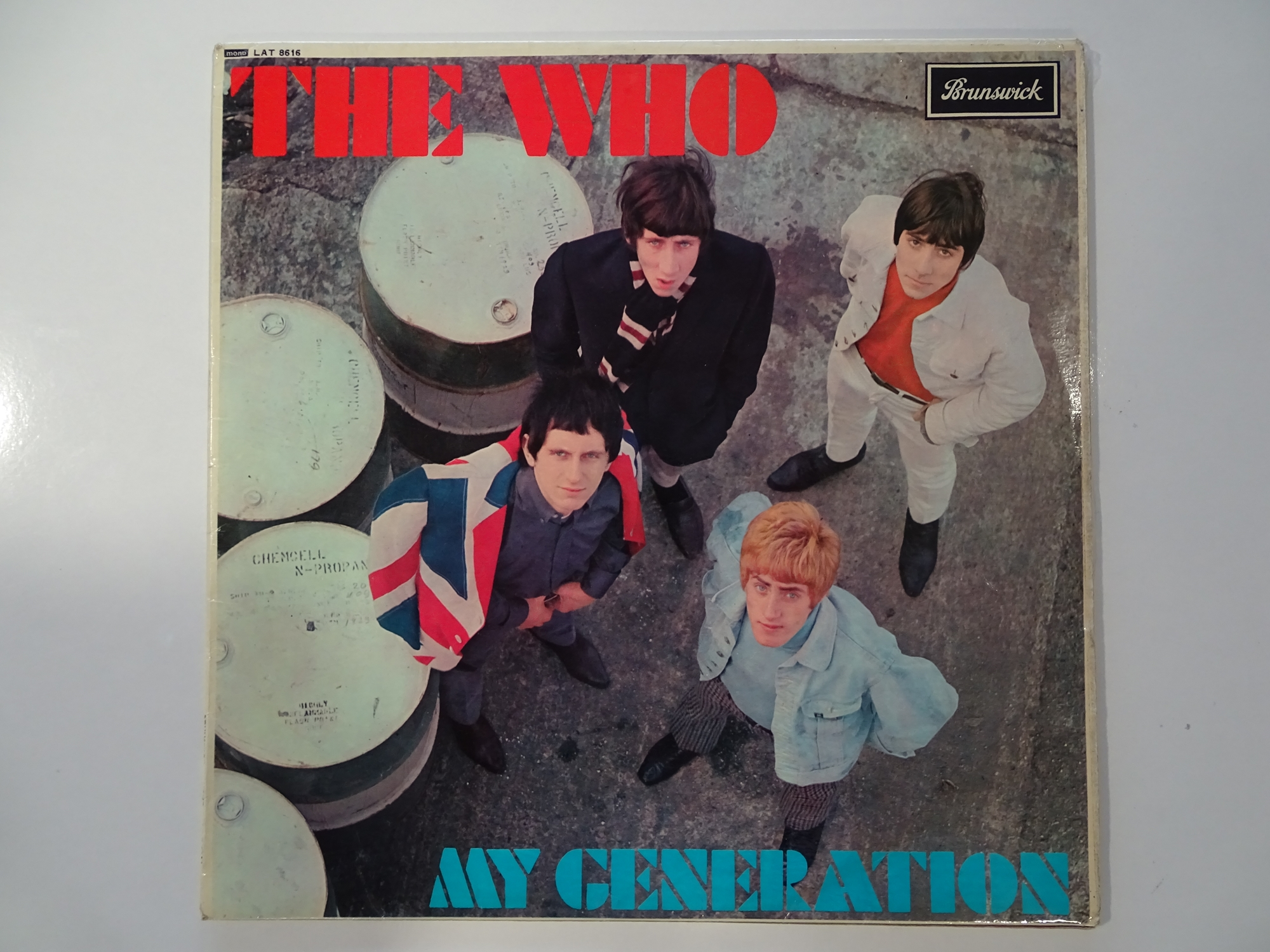 THE WHO - MY GENERATION - First pressing album signed by the four band members to the rear. An