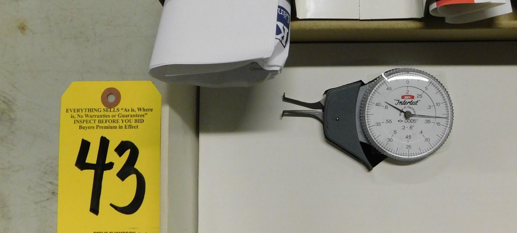 Lot 43 - Kroeplin Intertest Dial Caliper, 2 In. - 6 In., New