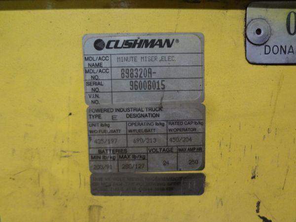 Cushman Model Minute