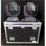 Pair of Clay Paky Alpha Spot HPE 700 in twin flightcase