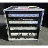 125amp 3 phase racked distro to 6 socapex, 3 schucko and 32amp 3 phase