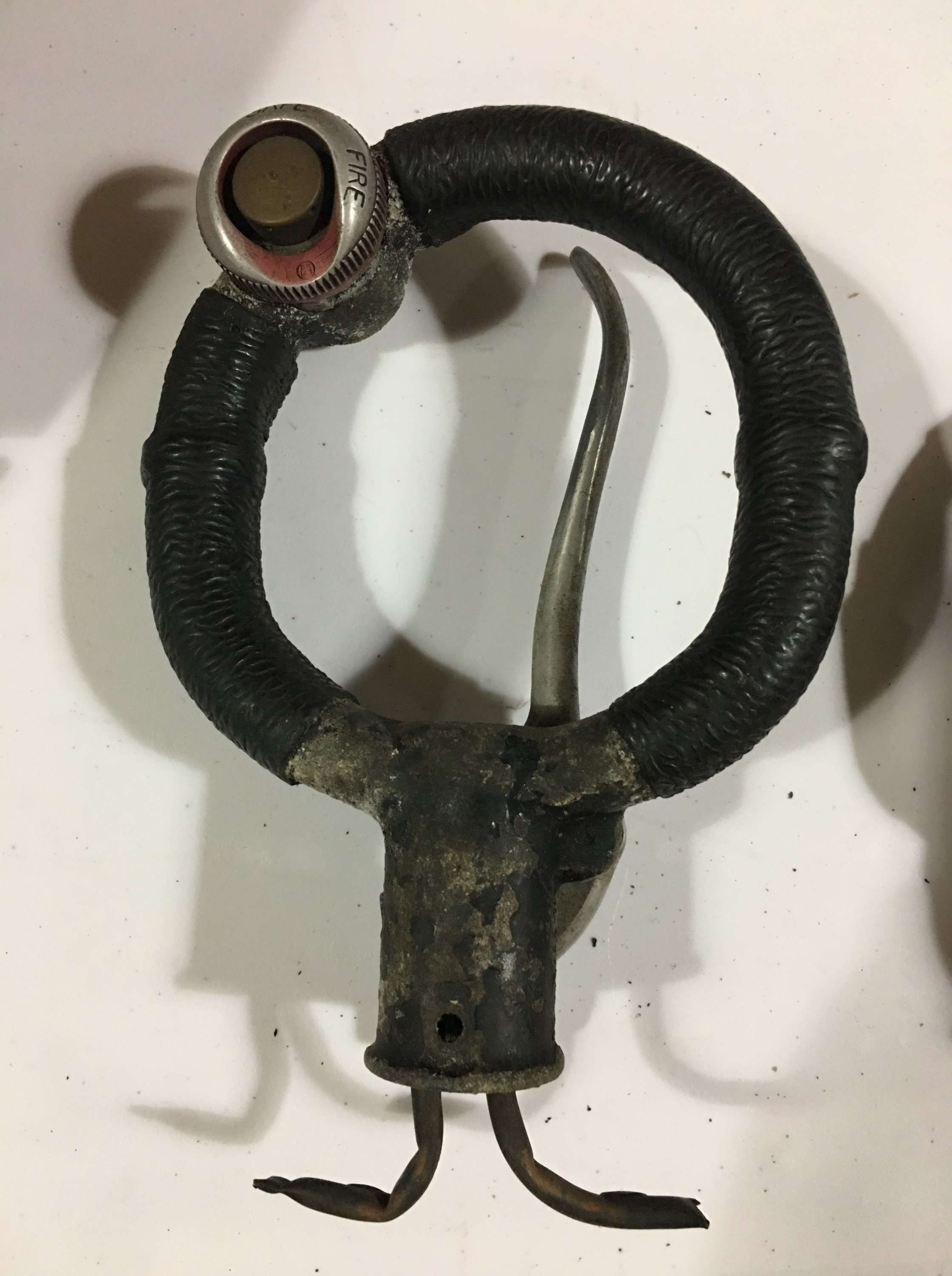 Lot 644 - A Second World War RAF Spitfire control column spade grip, part number AH2174