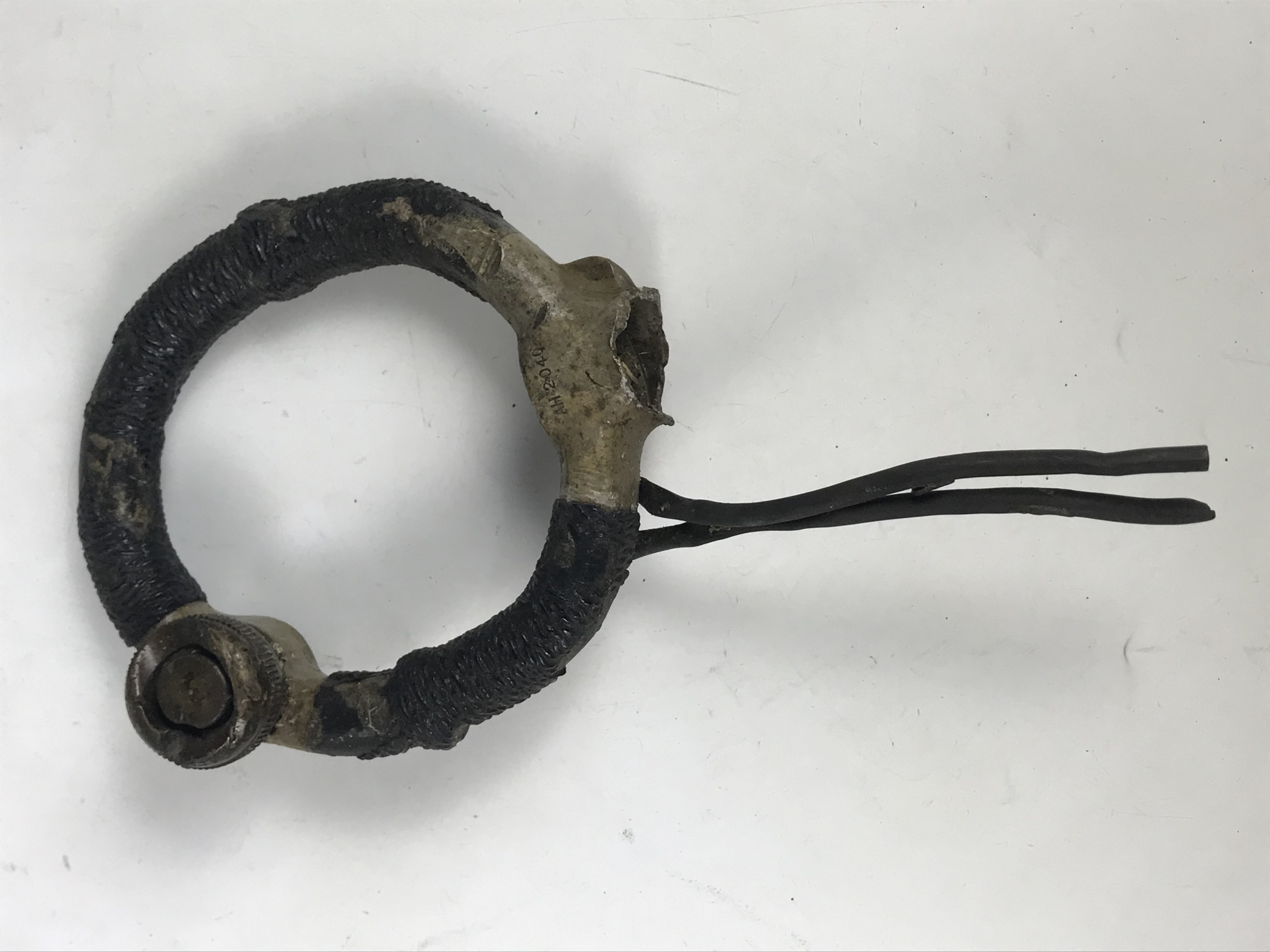 Lot 657 - A relic Second World War RAF control column spade grip, parts number AH2040 as used on Hurricanes
