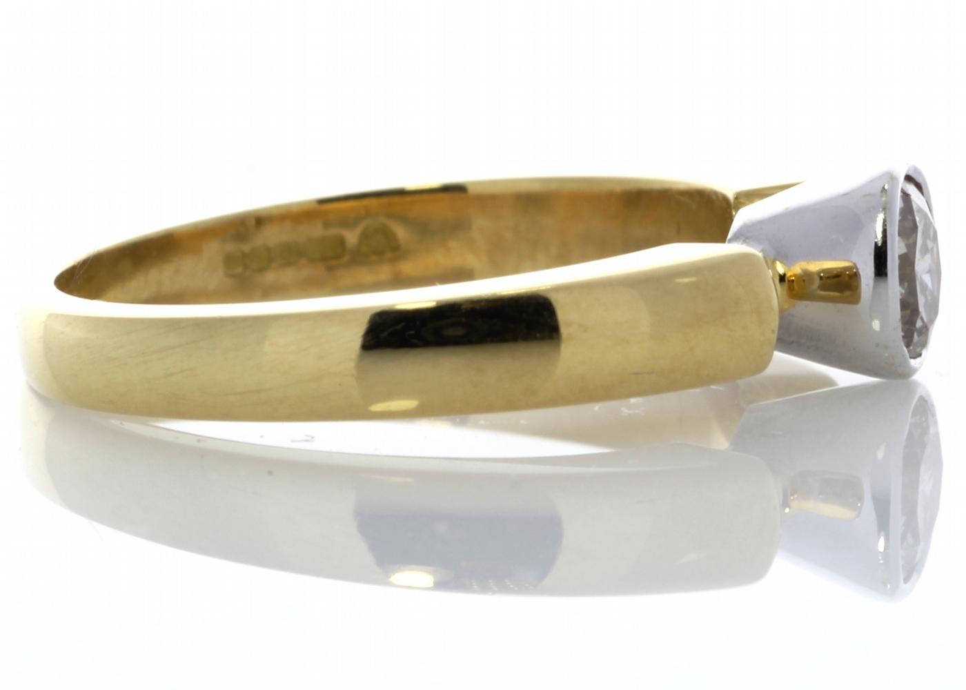 18ct Rub Over Set Diamond Ring 0.53 Carats - Image 3 of 5