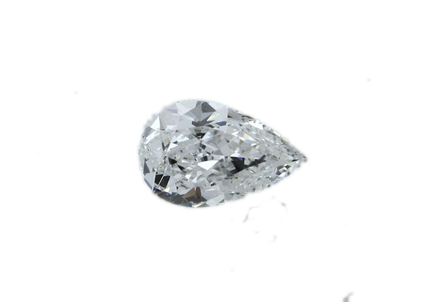 GIA Pear Shape Diamond E IF 0.91 Carats