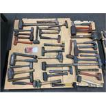Lot Comprising Assorted Dead Blow Hammers
