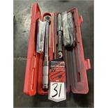 """Lot Comprising (2) PROTO 3/8"""" Drive Torque Wrenches"""