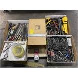 Lot Comprising Assorted Allen Wrenches, File and Air Guns