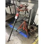 Lot Comprising RIDGID 450 TriStand, Pipe Cutter, Pipe Threader and Threading Head