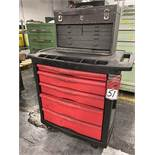 Rubbermaid Rolling Base Cabinet Tool Box w/ Craftsman Topper Tool Box