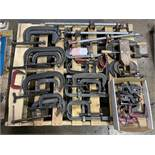 Lot of Assorted Bar Clamps and C-Clamps