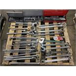Lot Comprising Combination Wrenches, Rachets, Sockets and Breaker Bars