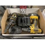 "Lot Comprising DEWALT DCD760 1/2"" Cordless Drill Driver and DEWALT DW257 VSR Deck/Drywall"