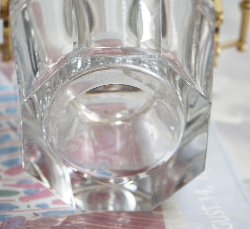 A Baccarat crystal champagne bucket of octagonal tapering form with gilt metal mounts, 23. - Image 5 of 5