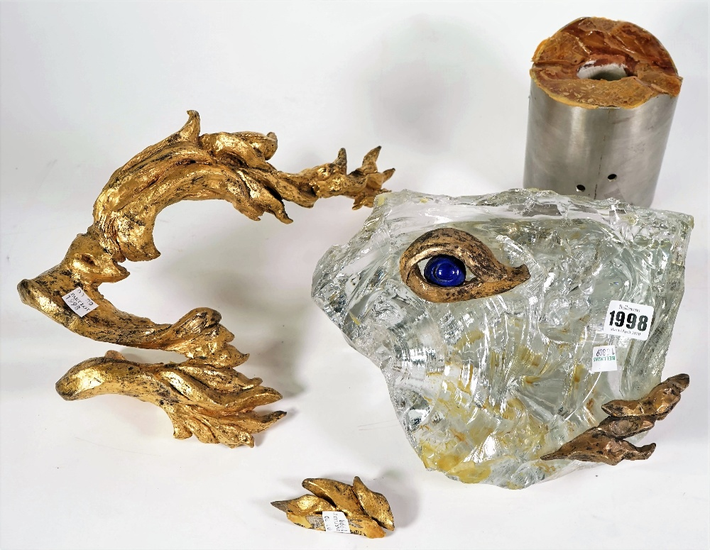 A Baccarat crystal sculpture for Chaumet depicting a stylised fish, circa. - Image 2 of 5