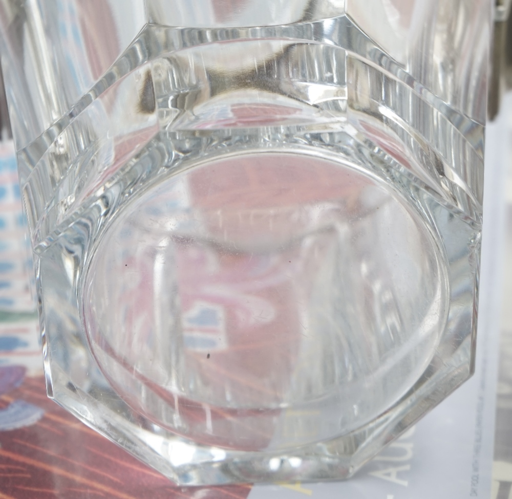 A Baccarat crystal champagne bucket of octagonal tapering form with gilt metal mounts, 23. - Image 2 of 5