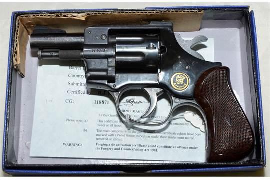 Deactivated  22 Arminius magnum revolver serial number 757538 with COD