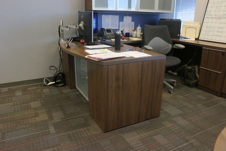 Lot 1066 - Room Content, Desk, Cabinet, Table *No Chairs, PC, Printers*
