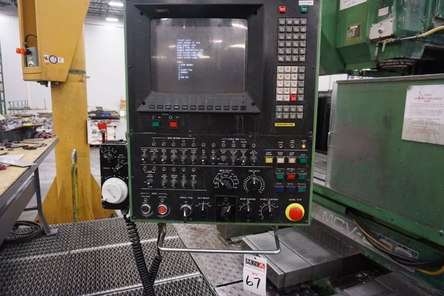 """OKK MCV-860 4-Axis VMC, Fanuc Neomatic System 11 Control, 80"""" x 34"""", 6000 RPM, CT50, 30 ATC, s/n - Image 11 of 13"""