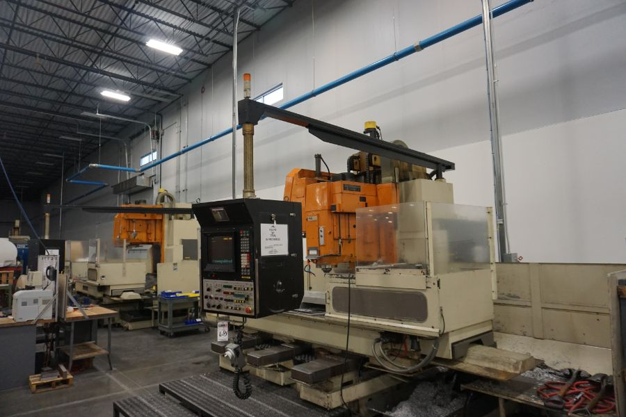 """Makino FNC-208 4-Axis VMC, Fanuc 6M Control, 32"""" x 98"""", 3200 rpm, 30 ATC, CT50, s/n 81 with 16"""" - Image 4 of 16"""