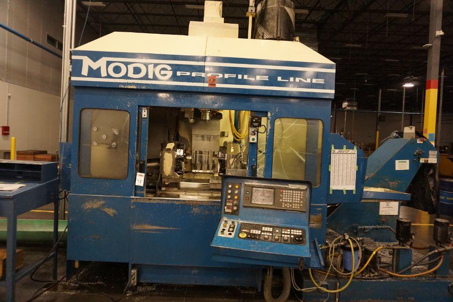 Modig MD7200, Fanuc 16M, 20K RPM, 24 ATC, CT40, s/n 970327, New 1997 - Image 6 of 14