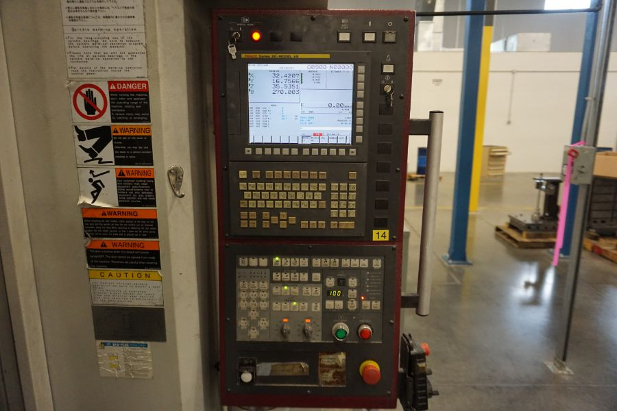 "OKK HM800S 4-Axis, Fanuc 310iS Model A, (2) 32"" Pallet, 12K RPM, CT50, 160 ATC, CTS, Chip - Image 13 of 20"
