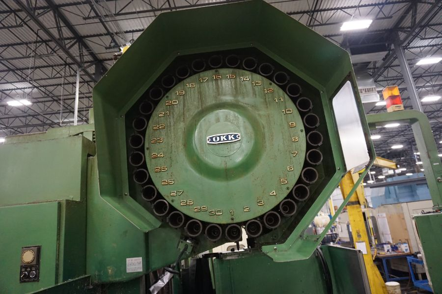 """OKK MCV-860 4-Axis VMC, Fanuc Neomatic System 11 Control, 80"""" x 34"""", 6000 RPM, CT50, 30 ATC, s/n - Image 10 of 13"""