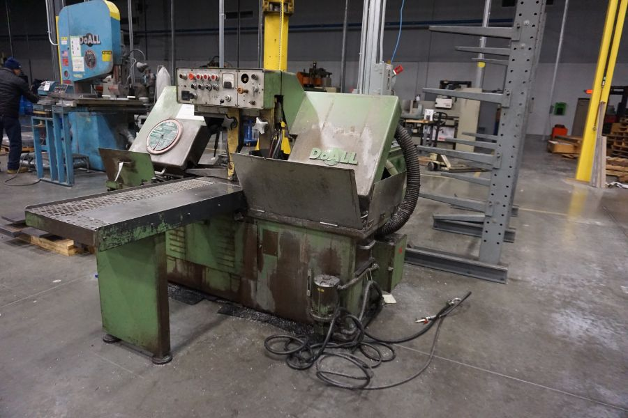 """DoAll C-1216A Hydraulic Horizontal Bandsaw, 160"""" Blade, s/n 373-79273 - Image 5 of 9"""