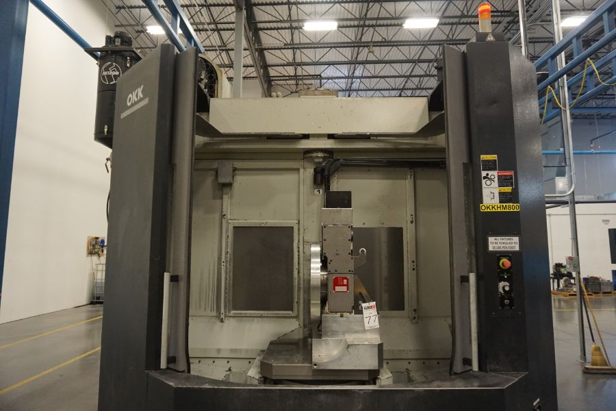 """OKK HM800 5-Axis, Fanuc 31i Model A5, (2) 32"""" Pallets, 12k RPM, CT50, 60 ATC, New 2011 with 12"""" - Image 5 of 17"""