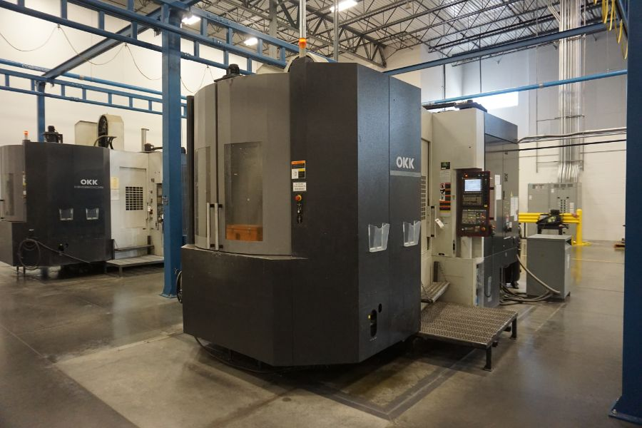"OKK HM800S 4-Axis, Fanuc 310iS Model A, (2) 32"" Pallet, 12K RPM, CT50, 160 ATC, CTS, Chip - Image 8 of 20"